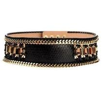 Stunning Balmain Black With Gold Hardware Wide Belt Nwt Fr. 40 Msrp 2340 Photo