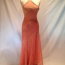 Stunning Bcbg Coral Gown With Beading- Size 4- Gently Worn Photo