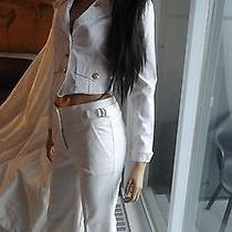 Stunning Bebe White Dress Pants Size 2p Photo