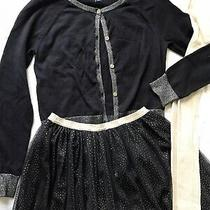 Stunning Black Golden Outfit Xmas Gap Cardigan Tulle Skirt Tights Us 11 12 Photo