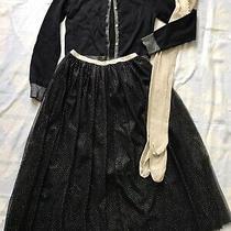 Stunning Black Golden Xmas Halloween Gap Cardigan Skirt Gymboree Tights Us 11 12 Photo