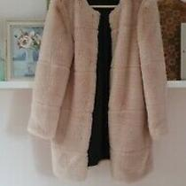 Stunning Blush Pink Zara Faux Fur Coat Bloggers Fav Sold Out Used Once Size S Photo