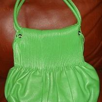 Stunning Bodhi Bright Green Leather Hobo Handbag Rare Purse- Excellent Photo