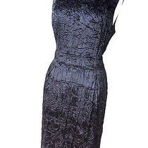 Stunning   Burberry London Black Crinkle Velvet Dress---Uk 14 Photo