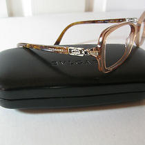 Stunning Bvlgari Gold/marble w/gold&crystal Side/name Eyeglasses 4059-B New  Photo