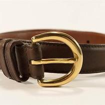 Stunning Coach Mahogany Glove Tanned Cowhide Belt Solid Brass Buckle Small Euc Photo
