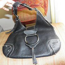 Stunning dolce& Gabbana Black Leather Hobo Handbag Purse Photo
