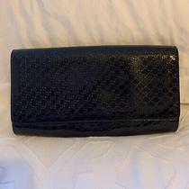 Stunning Exclusive Gucci Black Patent Envelope Clutch Purse Photo