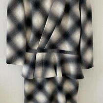 Stunning Gucci Wool Peplum Flannel Plaid Dress Size 42 Photo