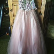 Stunning Jovani Sz 0 Gown Pageant or Prom - Blush Photo