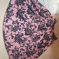 Stunning Ladies Flared Midi Skirt Size 8 Black Blush Pink Photo
