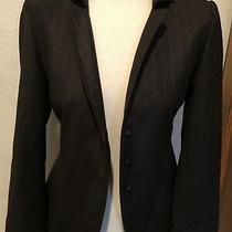 Stunning Linda Allard Ellen Tracy Brown Wool Blazer Size 4 Photo