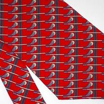 Stunning...luxury..bally Red Blue Gray White Golf Club Golf Ball Silk Suit Tie Photo