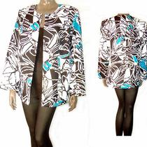 Stunning Maggie Barnes White Black Turquoise Aqua Jacket 1x  Open/texture 0ship Photo