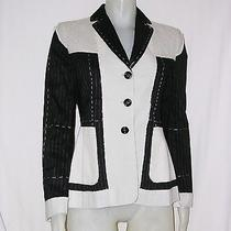Stunning Moschino Cheap and Chic Linen Patchwork Blazer Jacket Sz 8 Photo