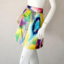 Stunning Multi Rainbow Colored 100% Silk Dolce & Gabbana Tie Dye Skirt Photo