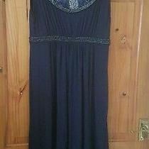 Stunning Navy Blue Jojo Maman Bebe Maternity Evening Beaded Dress Medium Photo