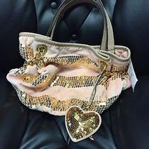 Stunning New Nwt Juicy Couture Purse Damsel 268 Blush and Gold Photo