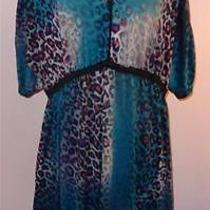 Stunning Nicole Miller Bright Color Animal Print Dress Free Bust Xl Photo