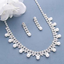 Stunning Pearl Necklace Set Crystal Silver Sp Wedding Bridal Mother Day Gift 26 Photo