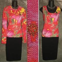 Stunning St John 2pc Evening Knit Jacket Top Sweater Size P 2 4 Photo