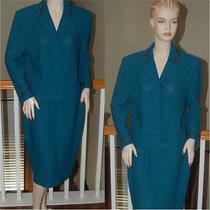 Stunning St. John Knit Turquoise Multi Collection Skirt Suit Sz 14 Xl Photo