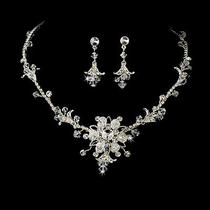 Stunning Swarovski Crystal Bridal Jewelry Set Ne 7809 Photo