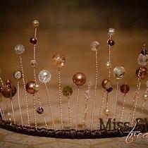 Stunningswarovski Crystal & Pearl Tiaraweddingpageantsgifthandmade Gift Photo