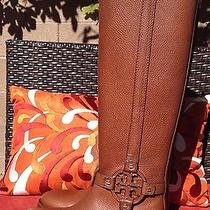 Stunningtory Burch Amanda Genuine Leather Riding Boots Size 6 Almond Sold Out Photo