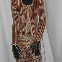 Stunning Vintage Missoni 3pc Set - Tank Top Cardigan and Skirt - Must See Photo