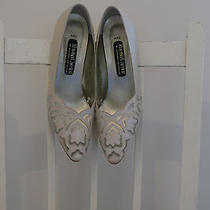 Stunning Vintage Roland Cartier Wedding Ivory Shoes Heels Size 6uk (39) Cut Out Photo