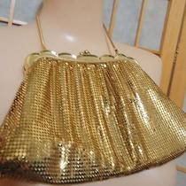Stunning Vintage Whiting & Davis Gold Mesh Fancy Framed Purse W Chain Us Made Photo