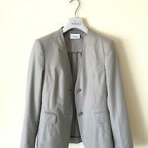 Stunning Women's Akris Punto Blazer Jacket Coat Sz 38 40 Uk 10-12 M Grey Cotton Photo