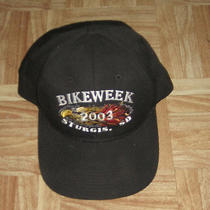 Sturgis Sd South Datoka Motorcycle Bike Week Black Hat Cap 2003 Harley Biker  Photo