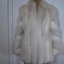 Stuuning White Blush Fox Fur Jacket Size 4-6  Fox Fur Hat  Retail Value 6k  Photo