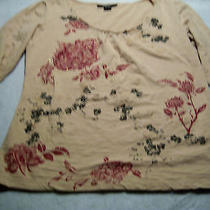 Style & Co 3/4 Sleeve Women's Size Small S Crinkle Knit Shirt Blouse Top Tan  Photo