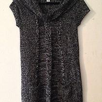 Style & Co Black With White Cotton and Acrylic Dress M W/pockets Photo