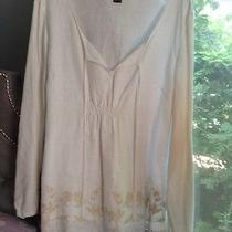 Style & co.blouse With Beige Embroidery Photo