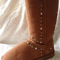 style&co. Bolted Women's Shoe Size 10 Tan Boot Suede Lined Pull-on New Box Studs Photo