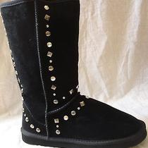 Style & Co. Bolted Women's Shoe Size 8 Boots Black Suede Midcalf Studded Display Photo