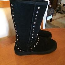 Style & Co. Bolted Women's Shoe Size 8 Boots Black Suede Midcalf Studded Photo