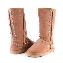 Style & Co Bolted Womens Suede Embellish Chestnut Fashion Mid-Calf Boots 7 M New Photo