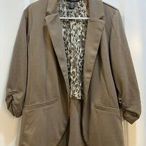 Style & Co Brown Cotton Jacket Size Medium Photo