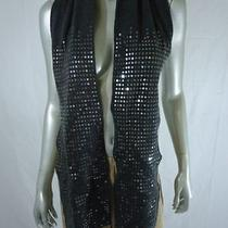 style&co. Fun Knit Sequins Scarf 54 Grey Photo