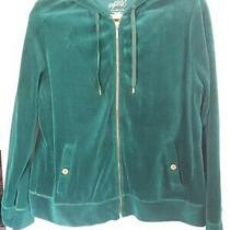 Style & Co. Green Velour Hoodie Xl Photo
