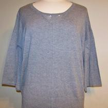 Style & Co. Grey Heather Oversized Embellished Sweater Xl Nwt 49 Photo