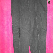 Style & Co. Ice Princess Collection Ink Blue Corduroys Pants Size 16  Photo