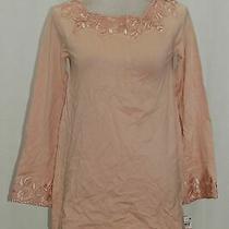 Style Co Lace-Trim Tunic Sweater Peony Blush Xs Photo