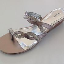 Style & Co Ladies Glitter Sandals Size 8.5 M Photo