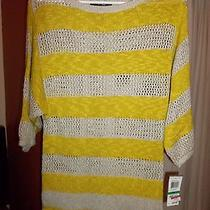 style&co. Lime Green and Light Gray 3/4 Sleeve Sweater Petite Large Photo